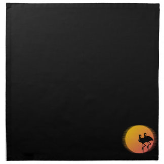 Sunset Flamingos Napkin