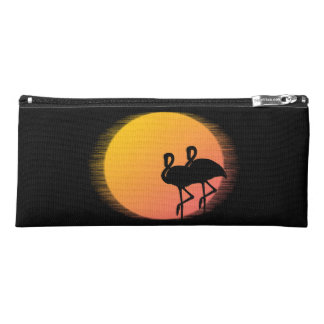 Sunset Flamingos Pencil Case