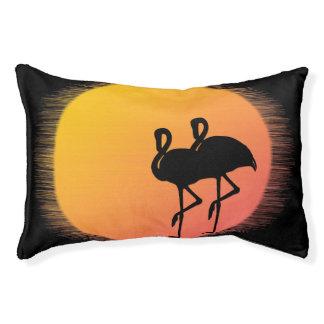 Sunset Flamingos Pet Bed