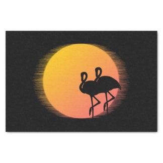 Sunset Flamingos Tissue Paper