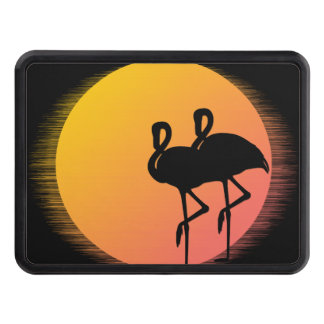 Sunset Flamingos Trailer Hitch Cover