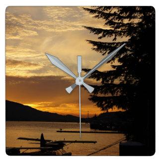 Sunset Float Plane Clock