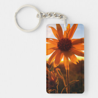 Sunset Flower Keychain