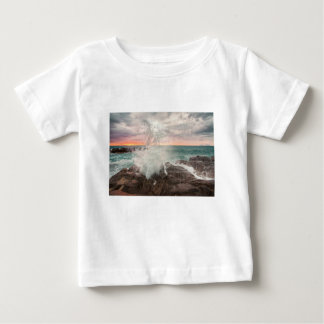 Sunset from a rocky beach baby T-Shirt