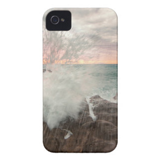 Sunset from a rocky beach Case-Mate iPhone 4 case