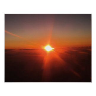 Sunset From Aircraft Poster
