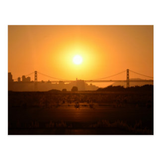 Sunset From Alameda Postcard