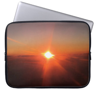 Sunset from an Aircraft Laptop Cover