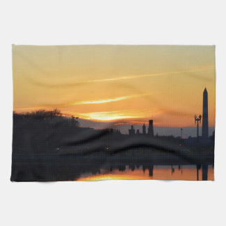 Sunset from Capitol Hill. Kitchen Towel