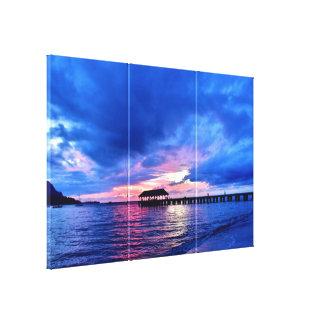 Sunset from Hanalei Bay - Kauai, Hawaii Canvas Print