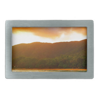 Sunset from Palm Cove Jetty Rectangular Belt Buckle