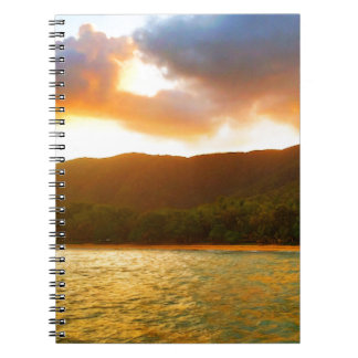 Sunset from Palm Cove Jetty Spiral Notebook