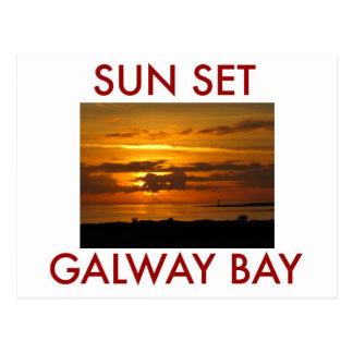 Sunset Galway Bay Postcard