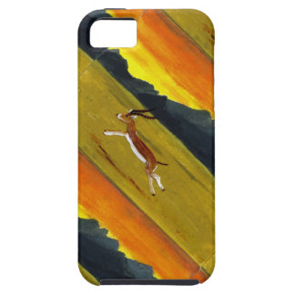 Sunset Gazelle wildlife art iPhone 5 Cases