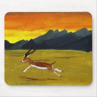 Sunset Gazelle wildlife art Mouse Pad