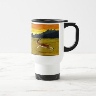 Sunset Gazelle wildlife art Travel Mug