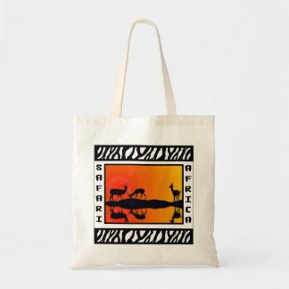 Sunset Gazelles Safari tote bag