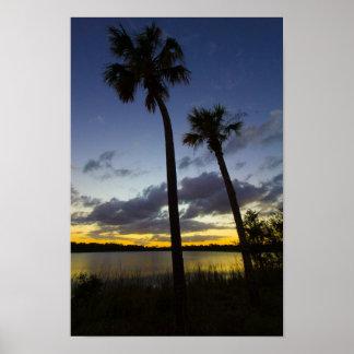 Sunset, George Lestrange Preserve, Fort Pierce, FL Poster