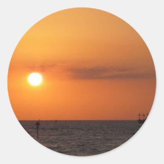 Sunset Gifts Round Sticker