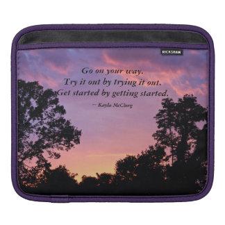 Sunset....Go on your way iPad Sleeves