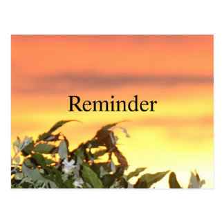 Sunset Gold Reminder Postcard
