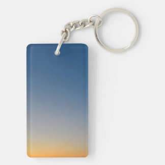 sunset gradient background blue orange evening sky Double-Sided rectangular acrylic keychain