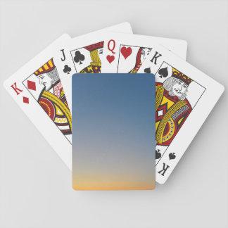 sunset gradient background blue orange evening sky poker deck