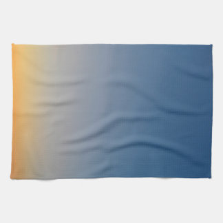 sunset gradient background blue orange evening sky towel