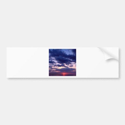 Sunset Grand Island Michigan Bumper Sticker