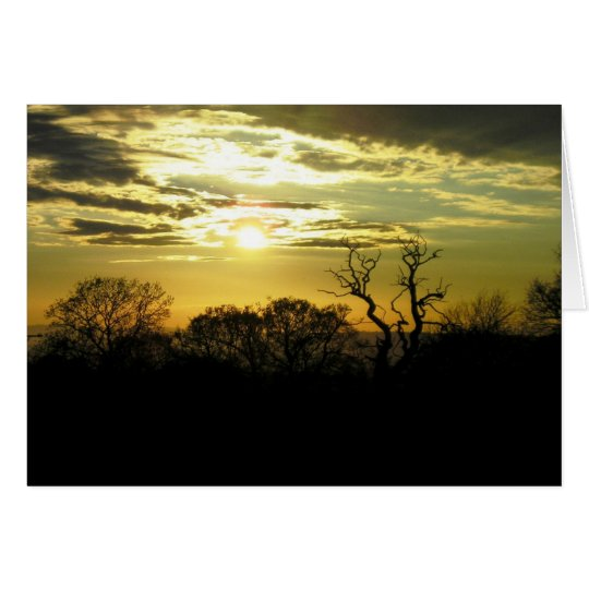 Sunset Greetings Card