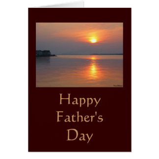 Sunset Happy Father's Day Card