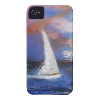 Sunset Harbor Sail Seascape Painting Case-Mate iPhone 4 Cases