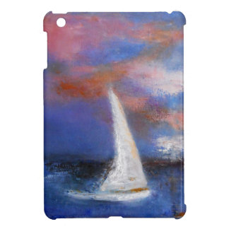 Sunset Harbor Sail Seascape Painting iPad Mini Covers
