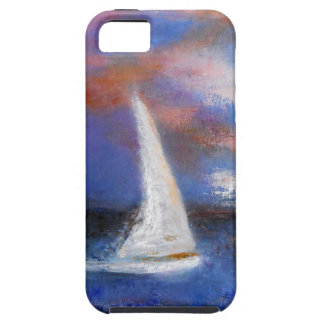 Sunset Harbor Sail Seascape Painting iPhone 5 Cases