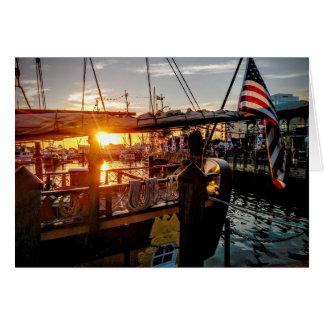 Sunset - Harborfest, Norfolk, VA Card