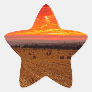 Sunset Hay Star Sticker