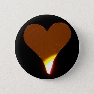 Sunset Heart 2 Inch Round Button