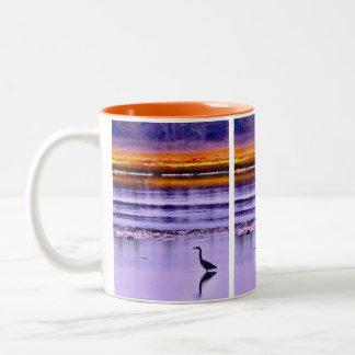 Sunset Heron Two-Tone Coffee Mug