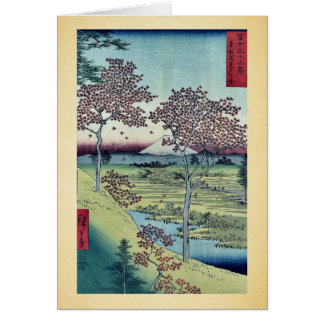 Sunset Hill by Ando,Hiroshige Card