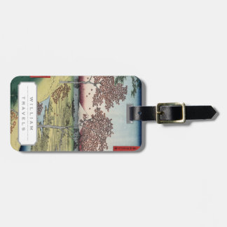 Sunset Hill, Meguro in the Eastern Capital. Luggage Tag