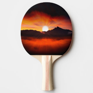 Sunset Holiday Style Ping Pong Paddle