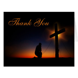 Sunset Holy Cross Memorial Service Thank You Card