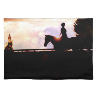 Sunset Horse Ride Placemats
