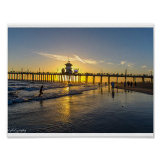 Sunset@Huntington Beach,CA Poster