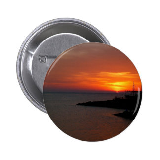 Sunset Ibiza 2 Inch Round Button