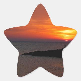 Sunset Ibiza Star Sticker