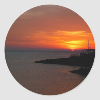 Sunset Ibiza Round Sticker
