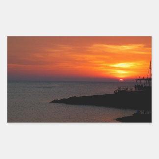 Sunset Ibiza Rectangular Sticker