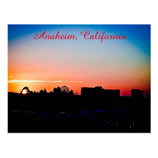 Sunset in Anaheim Postcard