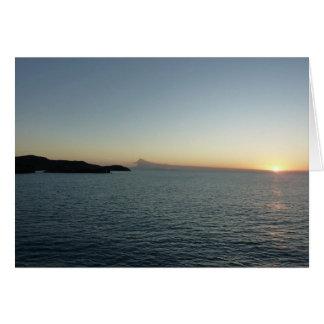 Sunset in Antigua II Seascape Photography Card